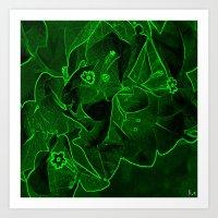 Ali - Green Art Print