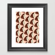 Cake Slice Pattern Framed Art Print