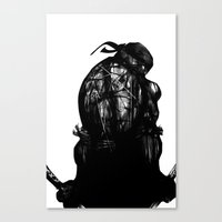 Leonardo Black And White Canvas Print