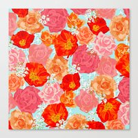 RING A RING O' ROSES -po… Canvas Print