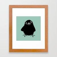 Baby Raven, Hi Framed Art Print