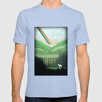 Lost Unicorn Mens Fitted Tee Tri-Blue SMALL