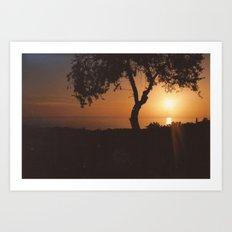 Pafos Sunset Art Print
