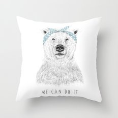 We can do it Throw Pillow
