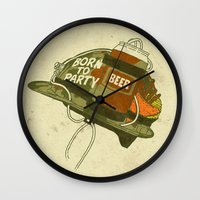 Born To Party Wall Clock