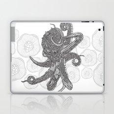 Octopus Bloom black and white Laptop & iPad Skin