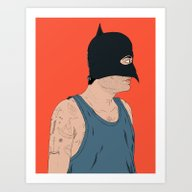Art Print featuring Superheroes SF by David Penela