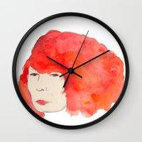 Fire Head Wall Clock