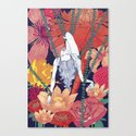 Woman Flowers Canvas Print