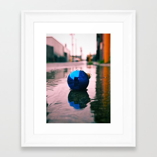 Urban Yuletide reflection Framed Art Print