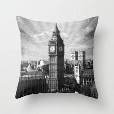 Vintage Big Ben Throw Pillow