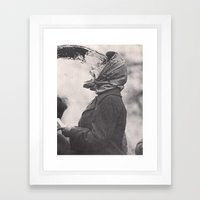 Human Water Fountain Framed Art Print