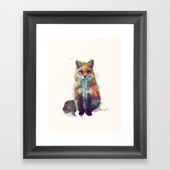 Fox Framed Art Print By Amy Hamilton Society6