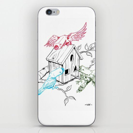 RGBirds iPhone & iPod Skin