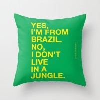 From Brazil III Throw Pillow