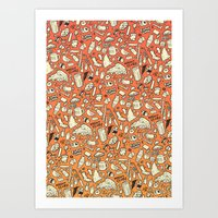 Filthy Lunch Dance Party Art Print