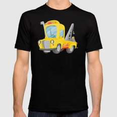 tow truck SMALL Black Mens Fitted Tee