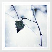 The last leaf Art Print