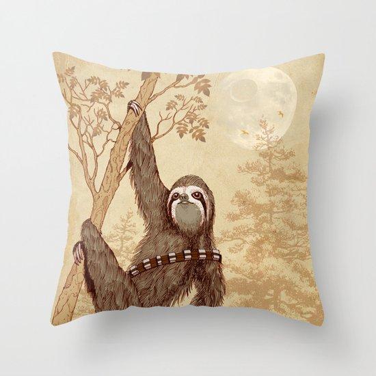 SlothWars Throw Pillow