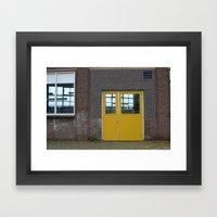 Yellow doors Framed Art Print