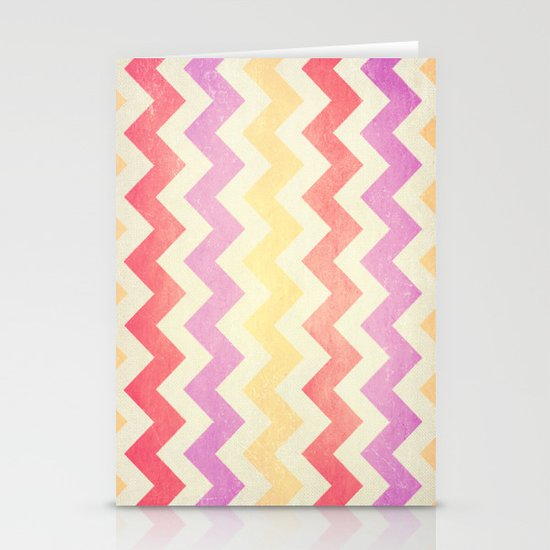 Crazy for Chevron - Vintage Pink Stationery Card