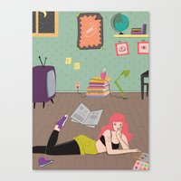 In Her Room Canvas Print