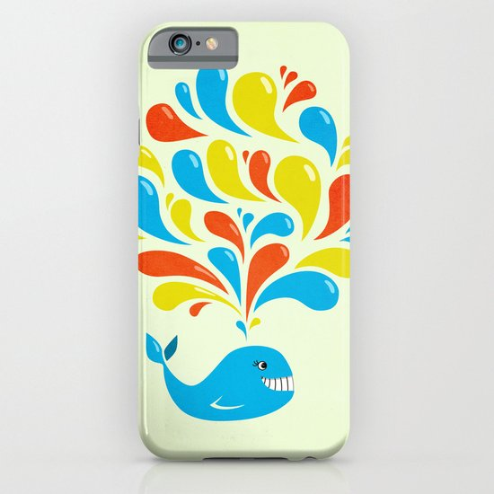 Colorful Swirls Happy Cartoon Whale iPhone & iPod Case