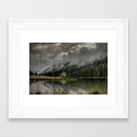 Framed Art Print featuring A Quiet Place by dTydlacka