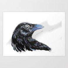 RHX Raven Logo Art Print