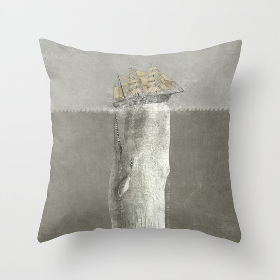 Revenge of The Whale Throw Pillow