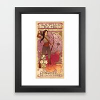 La Fille Du Feu Framed Art Print