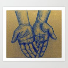 My Hands Art Print