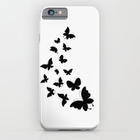 iPhone & iPod Case featuring BUTTERFLY BLACK AND WHITE by Ylenia Pizzetti