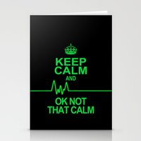 keep calm Stationery Cards featuring Keep Calm by Alice Gosling