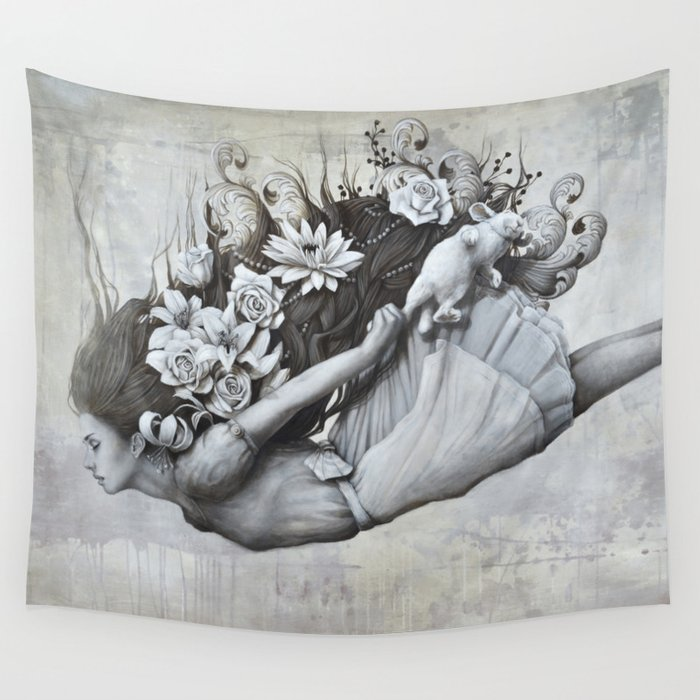 Le jardin d 39 alice wall tapestry by sophie wilkins society6 for Le jardin d alice