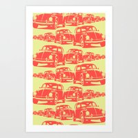 Bug Parade Pattern Art Print