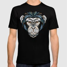 Chimpanzee Mens Fitted Tee Black SMALL