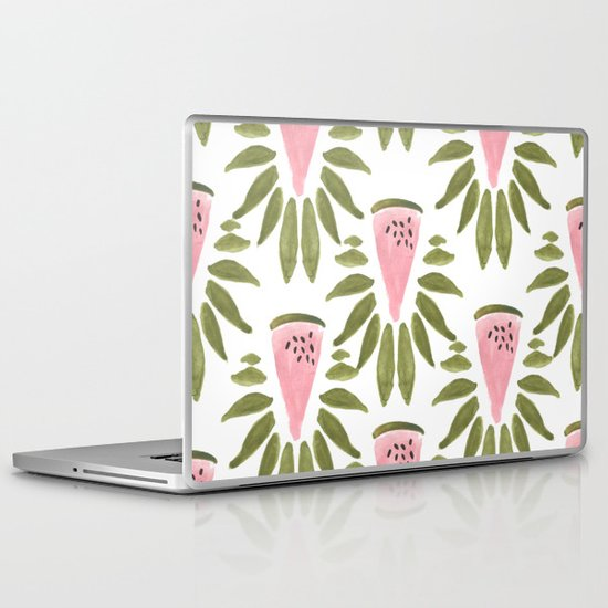 Watermelon and Leaves Laptop & iPad Skin
