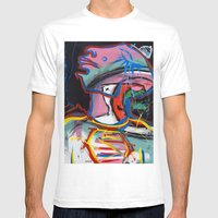 Self Reflectionism By Am… Mens Fitted Tee White SMALL