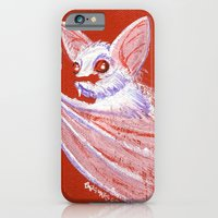 iPhone & iPod Case featuring White Bat by JoJo Seames