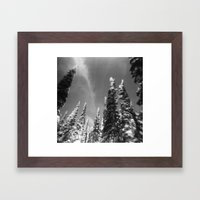 snow-capped . ii Framed Art Print