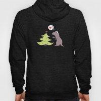 Cartoon Dinosaur And Christmas Tree Hoody