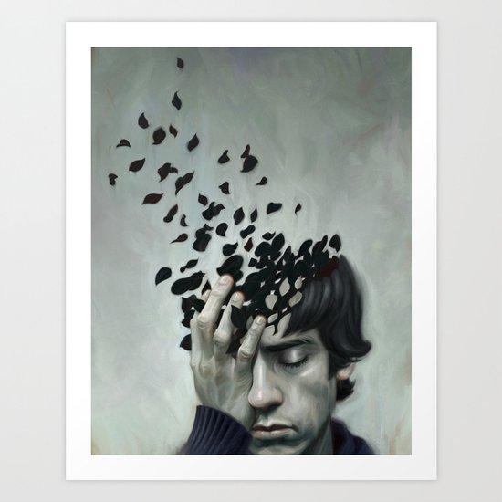 Teen Depression Art Print By Robert Carter