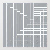 Fuzz Outline Grey Canvas Print