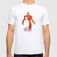 Iron Man Mens Fitted Tee Ash Grey SMALL