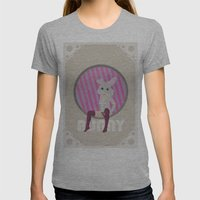 BUNNY Womens Fitted Tee Athletic Grey SMALL