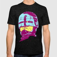 Robocop (neon) Mens Fitted Tee Tri-Black SMALL