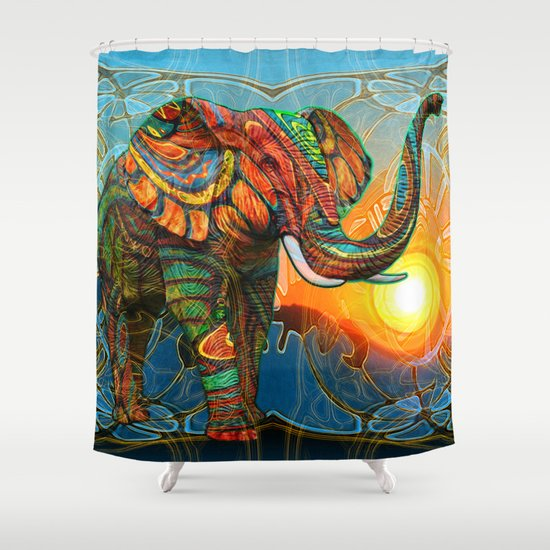 Elephant's Dream Shower Curtain