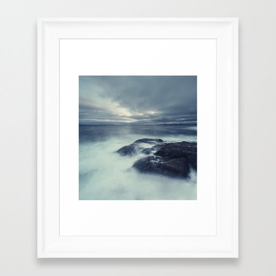 Washed in Atlantic Framed Art Print