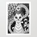 The blind cat is not blind Art Print